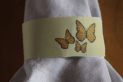 Yellow Butterfly Napkin Ring