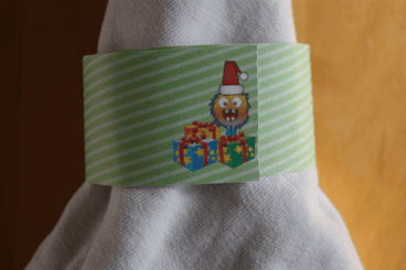 Christmas Presents Monster Napkin Ring