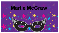 Mardi Gras Place Card with Mask