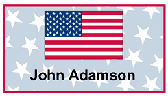Patriotic Place Card with Flag