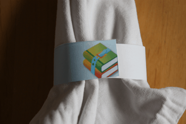 School Books Napkin Ring